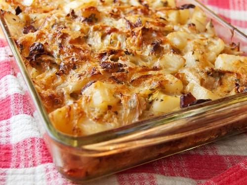 Meat Lite: Polish Cabbage, Potato, and Bacon Casserole