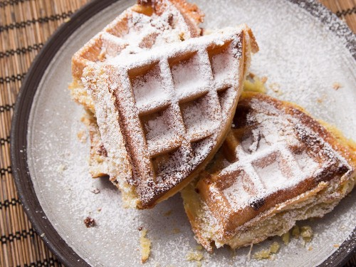 Buttery, Flaky Frangipane Puff Pastry Waffles Recipe
