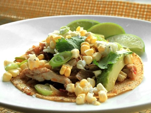 One-Pot Wonders: 20-Minute Spicy Chicken Tacos With Corn, Feta, and Avocado