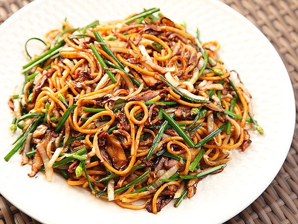 Extra Veggies = Extra Flavor: Stir-Fried Lo Mein With Charred Cabbage, Shiitake, and Chives