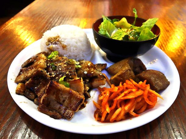Grilled Pork Belly and Gateway Korean Food at Kimchi House in Seattle