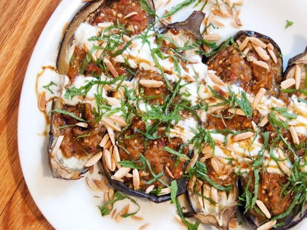 Vegetarian: Fainting Imam (Turkish Baked Stuffed Eggplant)