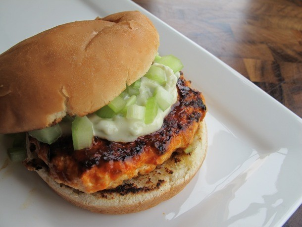 Spicy Buffalo Chicken Burgers Recipe