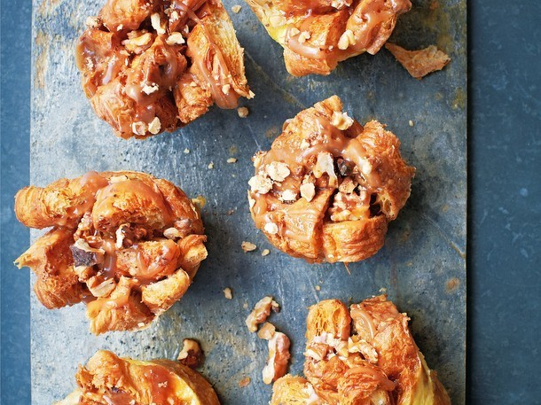 "Caramel Croissant Bread and Butter ""Puddings"" From ""The Ginger & White Cookbook"""