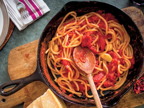 Pici All'Aglione From 'Extra Virgin: Recipes and Love From Our Tuscan Kitchen'