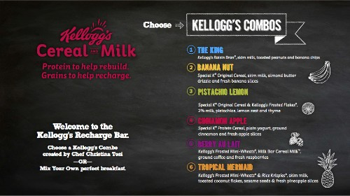 Christina Tosi's Awesome Cereal Menu at The Kellogg's Recharge Bar