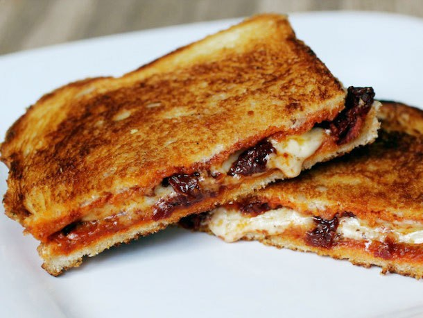 Sandwiched: Grilled Cheese Sandwich with Sun-Dried Tomatoes and Harissa