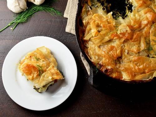 One-Skillet Dinner: Chicken Spanakopita Pot Pie