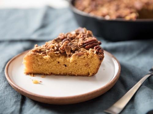 A Pumpkin Skillet Thing Coffee Cake to Celebrate the Season