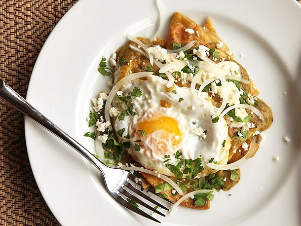 Chilaquiles Verdes With Fried Eggs Recipe