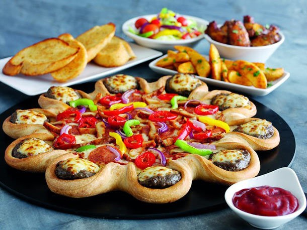 Pizza Hut's Cheeseburger Pizza Crust Debuts in the UK