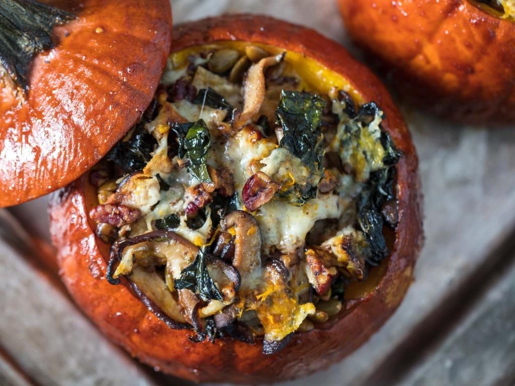 Thanksgiving Stuffed Roast Pumpkins Recipe