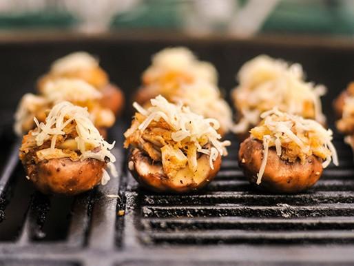 Grilled Crab- and Fontina-Stuffed Mushrooms Recipe