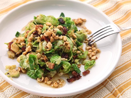 Forget Warm Spinach and Bacon: Warm Brussels Sprouts and Bacon Salad is the Way to Go