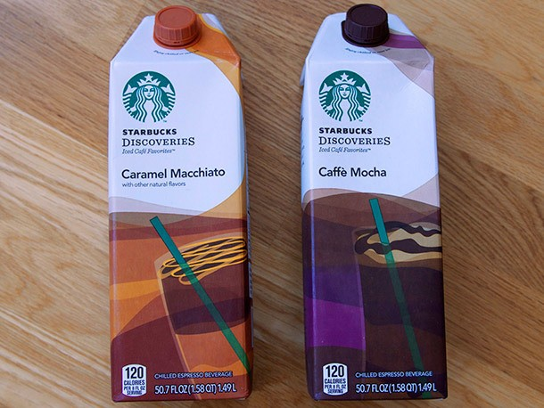 We Try Starbucks Discoveries Iced Caffe Mocha and Caramel Macchiato