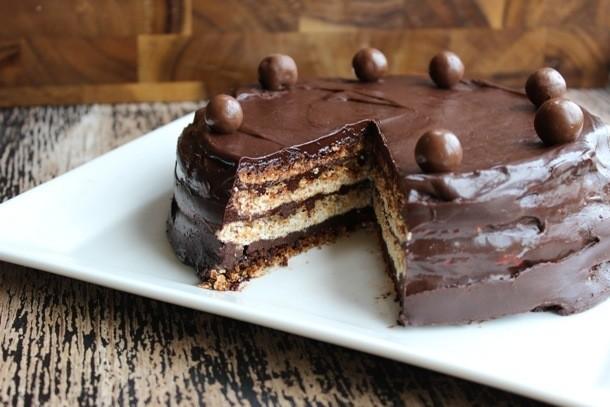 Malted Hazelnut Meringue Torte Recipe