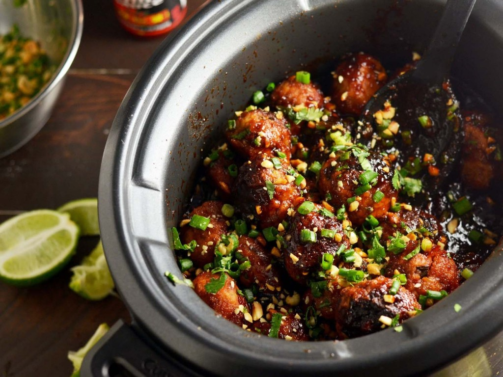 Slow-Cooker Sticky Thai Meatballs Recipe