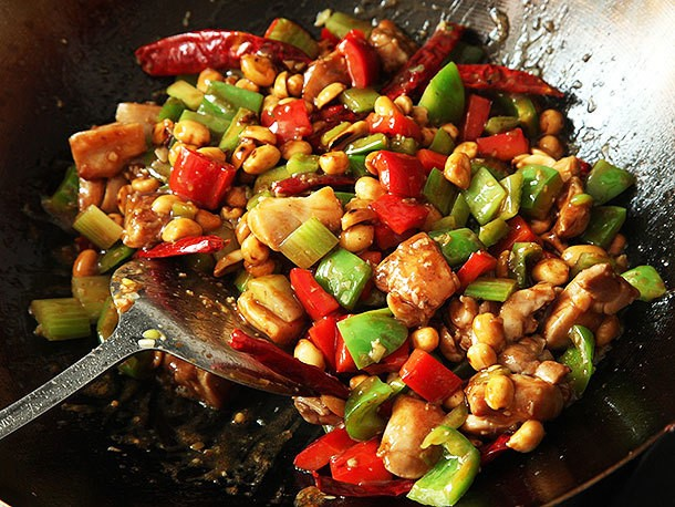 Takeout-Style Kung Pao Chicken (Diced Chicken With Peppers and Peanuts) Recipe