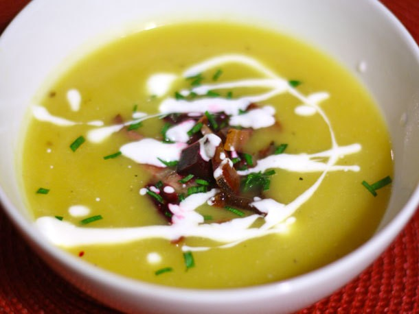 Squash and Apple Soup with Beet and Bacon Recipe