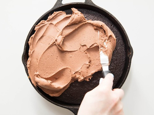 American Buttercream x Ganache = Double-Chocolate Frosting