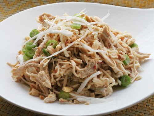 Easy Cold Sesame Noodles With Shredded Chicken Recipe