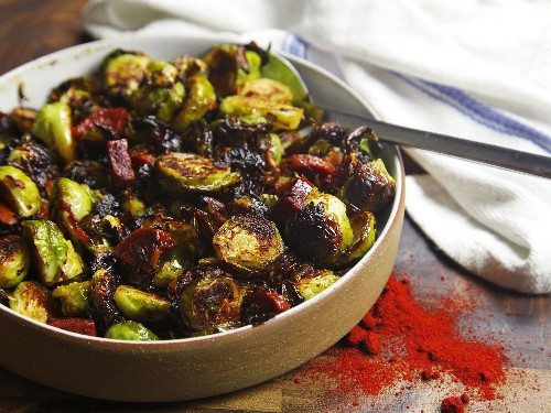 Roasted Brussels Sprouts Find a Perfect Partner in Smoky Spanish Chorizo