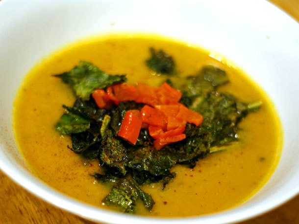 Roasted Butternut Squash, Kale, and Lemon Soup Recipe