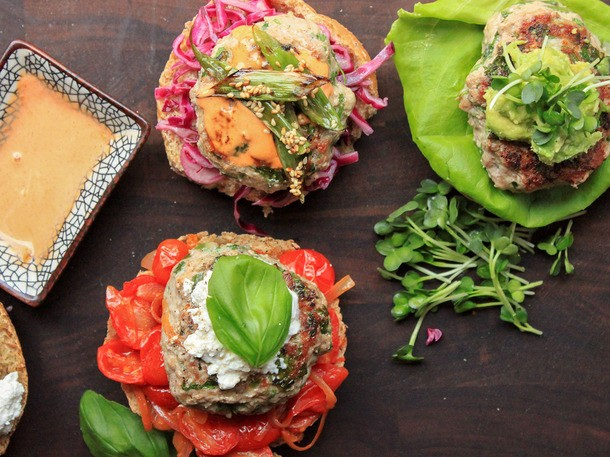 How to Make Juicy Turkey Burgers With Three Delicious Toppings