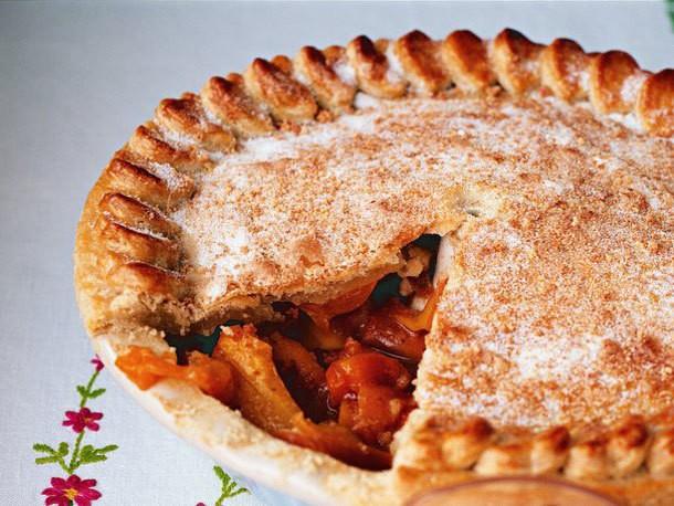 Bake the Book: Peach and Apricot Amaretti Pie