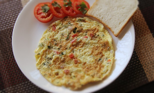 Indian Masala Omelet Recipe