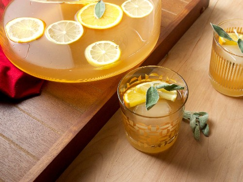 Party Drinks: Easy and Elegant Smoky Sage Punch