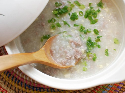 Ground Pork and Corn Congee (Chinese Rice Porridge) Recipe