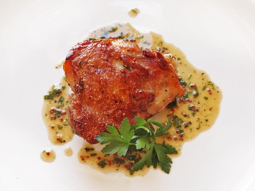 Crispy Sous-Vide Chicken Thighs With Mustard-Wine Pan Sauce Recipe