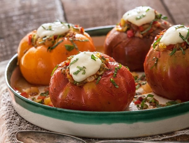 Summer Stuffed Heirloom Tomatoes from 'The Vermont Farm Table Cookbook'