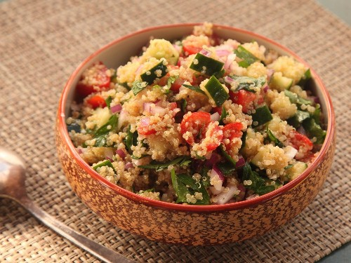 Make-Ahead Quinoa Salad With Cucumber, Tomato, and Herbs Recipe