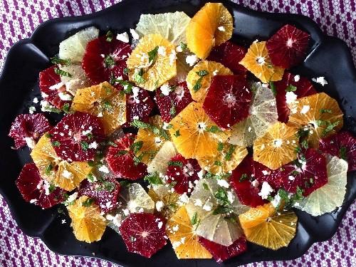 Winter Citrus Salad With Black Pepper, Feta, and Mint Recipe