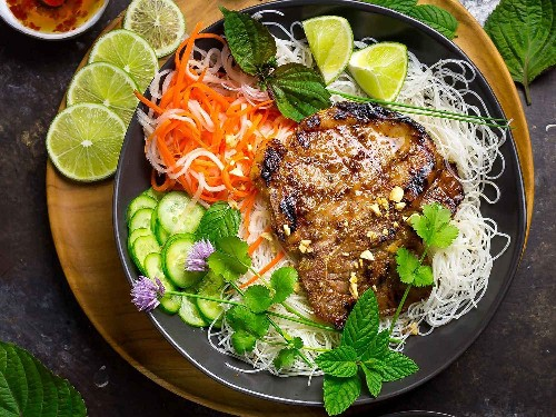 Vietnamese Grilled Pork and Cold Rice Noodles: A Perfect Summer Dish