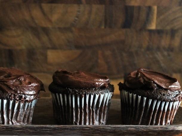 Sour Cream Chocolate Cupcakes Recipe