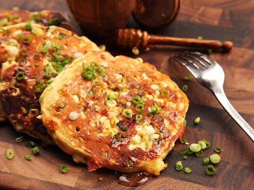 Make These Savory Bacon and Corn Pancakes With Cheddar and Jalapeño
