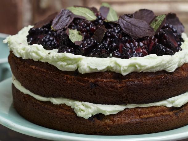 Blackberry Mint Cake