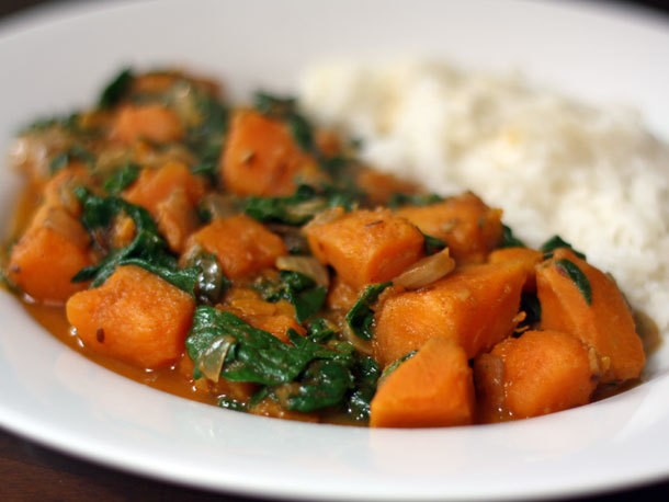 Sweet Potato and Spinach Curry Recipe