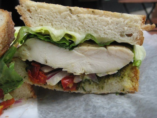 A Sandwich a Day: Chicken Pesto at LooseLeaf Lounge