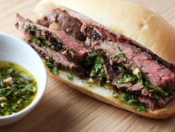 Sandwiched: Steak and Chimichurri Sandwiches