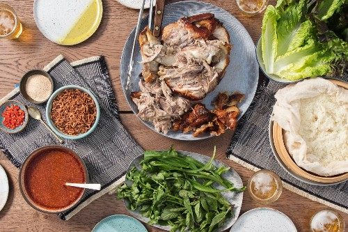 Thai-Inspired Slow-Roasted Pork Shoulder Feast Recipe