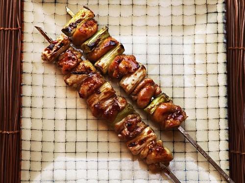 Japanese Chicken Skewers With Scallion (Negima Yakitori) Recipe