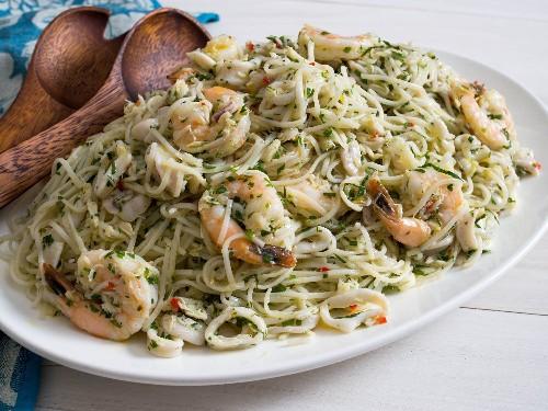 Italian Seafood-Salad Pasta Salad With Vietnamese Noodles Recipe