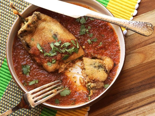 Chiles Rellenos (Mexican-Style Cheese-Stuffed Chilies) Recipe