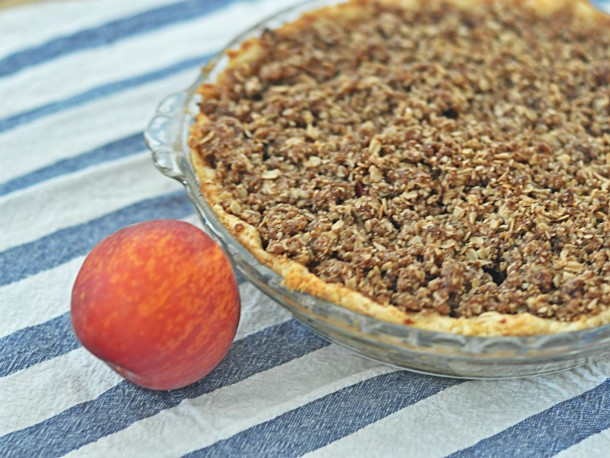 Ginger Peach Bourbon Pie Recipe