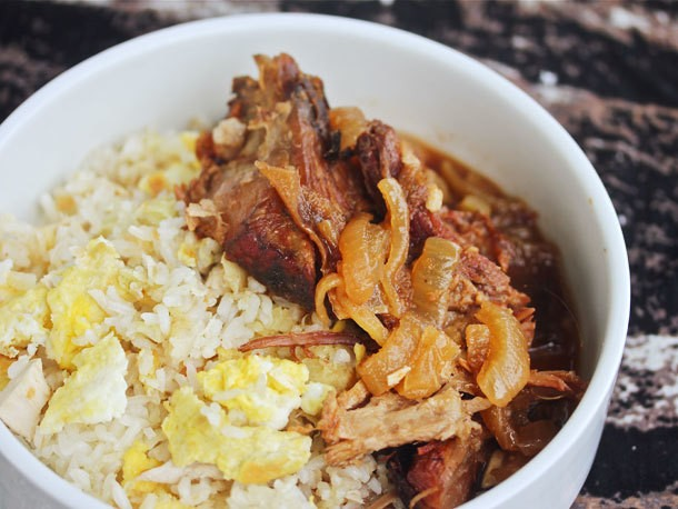 Slow-Cooker Filipino Pork With Garlic Fried Rice Recipe