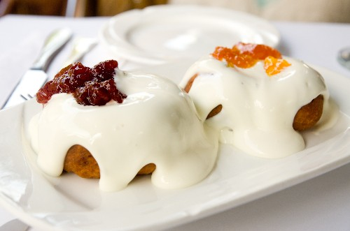Sour Cream-Topped Doughnuts and Decent Apple Strudel at Romanian Garden